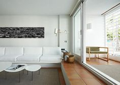 Grey rug on terracotta tiles  desire to inspire - desiretoinspire.net - Spanishminimalism