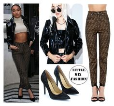 """""""Leigh at BBC Radio2"""" by mixerfromsweden ❤ liked on Polyvore featuring Cheap Monday and Fendi"""