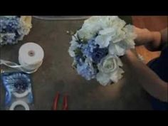 Wedding Bouquet - How to make it fast and cheap - YouTube