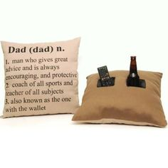 Check out this Tumbleweed 'Dad' Fabric 18-by-18 Inch Decorative Double Pocket Toss Pillows that I found on Ziftit.