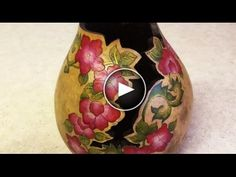 Creating a Gourd Vase with Flowers and Fancy-Cut Rim with Christy Barajas