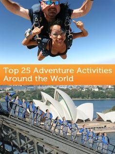 Top Adventure Activities Around the World: http://travelblog.viator.com/top-adventure-activities-around-the-world/ #travel