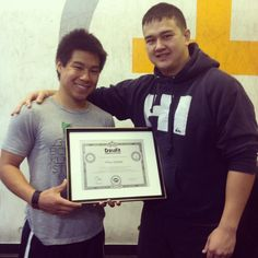 Congrats to Masa (now Coach Masa) for completing his Level 1 certification! #Crossfit