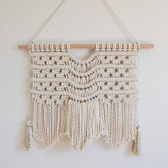 Macrame Wall Hanging with Removable Hanger Nursery by TysKnots