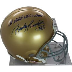 Rudy Ruettiger Autographed Authentic Notre Dame Full Size Helmet With It Started With A Dream Inscribed * Find out more about the great product at the image link. (This is an affiliate link and I receive a commission for the sales)
