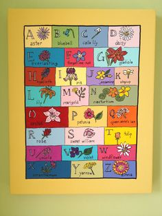 ABC's of my Garden by abmdam on Etsy