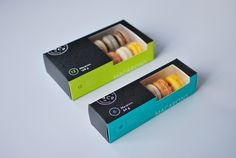 Kitchening & Co. Macaron Packaging. Designed by David Arias, Vancouver