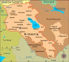 Map of Armenia.  Capital: Yerevan. Languages: Armenian 98%, Yezidi, Russian.Languages: Armenian 98%, Yezidi, Russian. Ethnicity/race: Armenian 97.9%, Russian 0.5%, Kurds 1.3%, other 0.3% (2001)