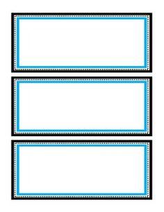 Classroom Decor - Name Plates (Blue, Green, and Purple)