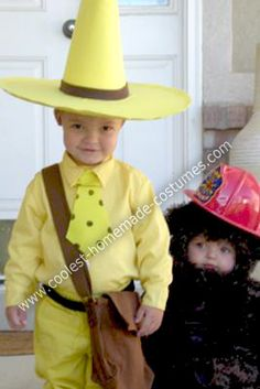 Coolest Homemade Curious George and The Man in the Yellow Hat Costumes 5