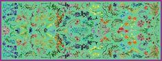 Scarf Herbarium - colour: green
