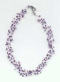 Perlenkette mit der Strickliesel gemacht