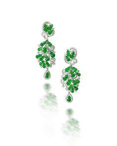 A pair of jadeite and diamond earrings Jade Earrings, Jade Jewelry, High Jewelry, Dangle Earrings, Diamond Earrings, Diamond Jewellery, Titanic Jewelry, Wedding Earrings, Designer Earrings