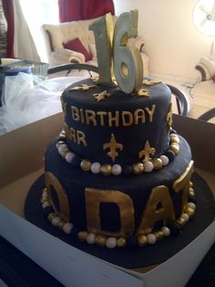 omg would love for my bday cake to look like this or wedding cake.. yeah #WHODAT