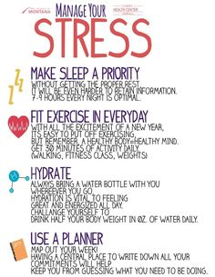 Great tips for dealing with stress