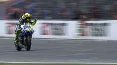 The MotoGP™ race at the Tissot - Australian Grand Prix - saw Rossi take his second win of 2014 , with Jorge Lorenzo and Bradley Smith also on the podium . Marc Marquez crashed out , of an incident packed race - whilst leading , and Dani Pedrosa was forced to retire , after being clipped by Andrea Iannone
