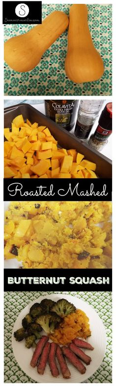 Roasted Mashed Butternut Squash, the perfect fall side dish!