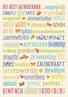 Art.Nr. 25305: Doppelkarte - Du bist wunderbar - http://1pic4u.com/2015/09/02/art-nr-25305-doppelkarte-du-bist-wunderbar/