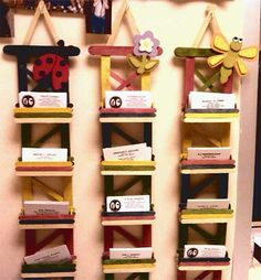amazing popsicle organization center!