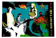 Screenprint Poster commission . Franck Gohier - Red Hand Prints