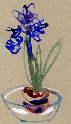 Hyacinth-on-pastel-paper-shorter. Laurelines