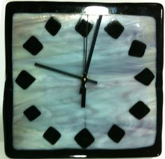 fused glass clock made my middle school student.