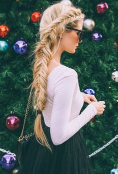 Holidays Braided Hairstyles for parties #newyear #christmas