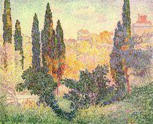 Henri-Edmond Cross / Cypresses at Cagnes, c. 1900