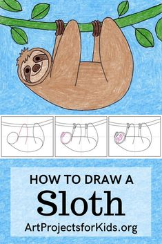 Drawing Lessons For Kids, Art Drawings For Kids, Easy Drawings, Art Lessons, Art For Kids, Easy Kids Drawing, Diy Projects When Bored, Projects For Kids, Crafts For Kids