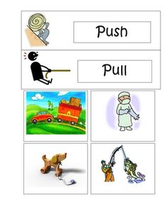 This is a pocket chart activity for students to practice the different forces of motion....