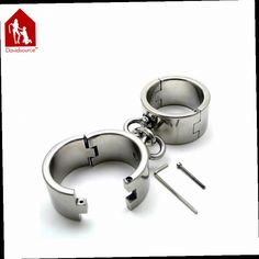 52.85$  Buy now - http://ali42e.worldwells.pw/go.php?t=32438632214 - Davidsource Shiny Heavy Metal Cuffs 50mm Wrist & Ankle Cuffs BDSM Restraint Shackles For Slave Bondage Gear Adult Fetish Sex Toy