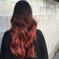 light bodied red ombre