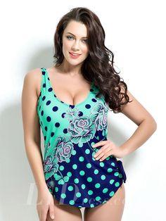 Print Plus Size One-Piece Swimwear Lidyy1605201033