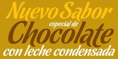 Chocolate - Webfont & Desktop font « MyFonts Good in grunge on food photography!