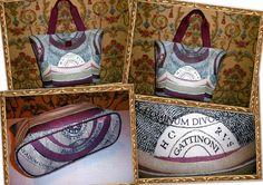 GATTINONI - SHOPPER GRANDE  Shopping bag multicolor Planetarium COLLECTION
