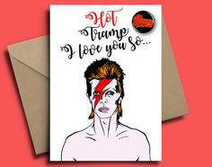 David Bowie Personalised Valentines Day Card by FloatinginSpace69