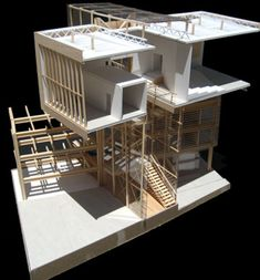 year project - by Eric Solis Los Angeles, CA, US Design of a civic center on an Echo Park, Los Angeles site. The project's aim was integrating community and expanding the public realm through iconic design and addressing site-specific issues. Architecture Model Making, Concept Architecture, Model Building, Architecture Details, Building Design, Interior Architecture, Structural Model, Architectural Section, Architectural Models