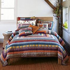 Harvest Quilt--Guest room? Colors are wonderful.  From The Company Store