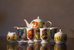 Juego de té al estilo de las Casas de Hogwarts ~ Clic para ver más fotos =3