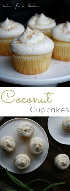 Coconut cupcakes topped with vanilla buttercream and toasted coconut. Light and fluffy cupcakes paired with a delicious vanilla buttercream. Kokos Cupcakes, Coconut Cupcakes, Yummy Cupcakes, 12 Cupcakes, Cheesecake Cupcakes, Cookies Cupcake, Cupcake Cakes, Cup Cakes, Coconut Recipes