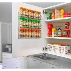 Kitchen shelves for small spaces spice rack ideas for small spaces unique kitchen storage ideas easy . Small Space Kitchen, Small Space Storage, Attic Storage, Diy Kitchen Storage, Kitchen Cupboards, Kitchen Hacks, Home Organisation, Kitchen Organization, Organizing