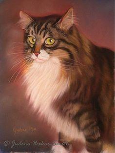 Jamieart print of a tabby kitty cat by ArtByJulene on Etsy, $15.00