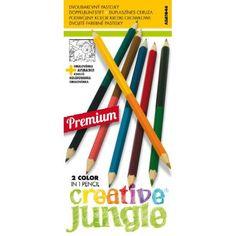 12 darabos, mindkét végén hegyezett, 24 színű színes ceruza készlet Creative Jungle - Színes ceruzák - 439Ft