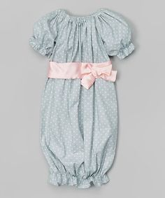 Another great find on #zulily! Gray & Pink Polka Dot Gown - Infant by Caught Ya Lookin' #zulilyfinds