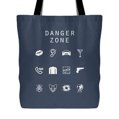 Danger Zone (Archer) Tote Bag - Beacon