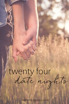24 Date Night Ideas. Whether you want to do something adventurous or get cozy at home, you'll find an idea here!