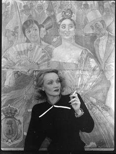 Marlene Dietrich in Spain.