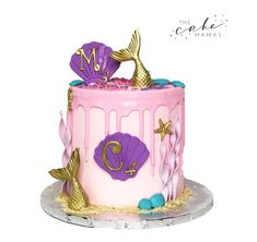 Call or email to order your mermaid celebration cake! Cupcake Wars, Cupcake Cookies, Cupcakes, Drip Cake Tutorial, Texas Cake, Girly Cakes, Novelty Birthday Cakes, Mermaid Cakes, Drip Cakes