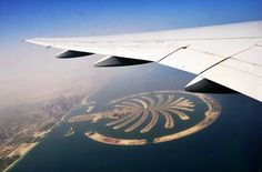 Birds eye view of Palm Jumeirah