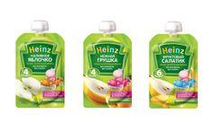 Пюре в устойчивых пакетах от Heinz для самостоятельных детей #packaging #doypack…